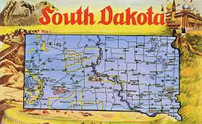 Road Map Of Southern Usa by Large Tourist Illustrated Map Of South Dakota State Vidiani Com