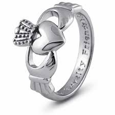 mens claddagh ring silver claddagh ring sms sg7