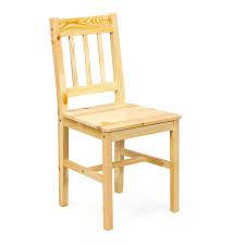 chaises de cuisine en pin chaise de cuisine contemporaine en pin massif naturel lot de 2