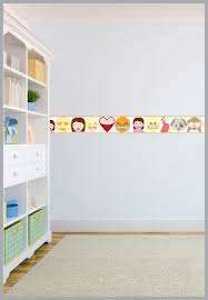 emoji emoticons children u0027s bedroom adhesive wallpaper border boys