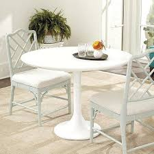Round White Pedestal Dining Table Trumpet Pedestal Table
