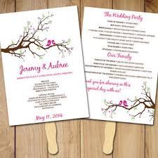 wedding fan programs templates best wedding ceremony program templates products on wanelo