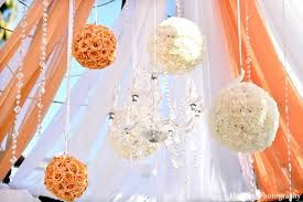 themed outdoor decor flower balls outdoor wedding decorations weddings