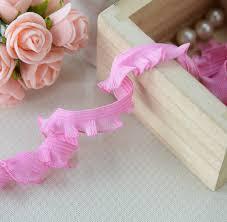 elastic ribbon by the yard 20 yard 1 3cm 0 51 wide pink stretch elastic ruffled braid