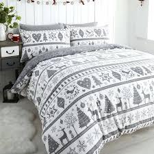 bedding quilts noel snowflake reindeer grey white