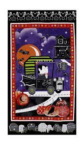 Halloween Flannel Fabric Dark Home Panel Fabric Com