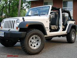 modified white jeep wrangler modified bolero pics team bhp