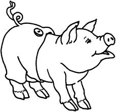 pig wearing pants coloring page pig wearing pants coloring page