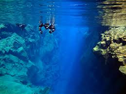 facing the notoriously cold icelandic waters scuba diving