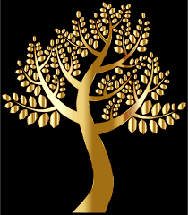 clipart simple gold tree