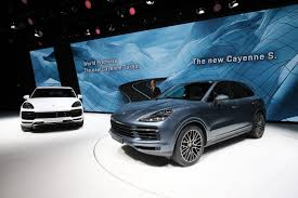 porsche jeep new porsche cayenne turbo arrives in frankfurt with mind blowing