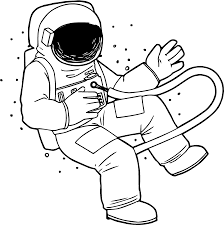 astronaut space fly coloring page wecoloringpage
