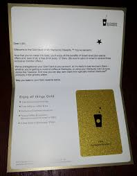 starbuck gold card welcome to gold starbucks letter renés pointsrenés points