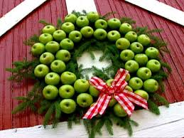 apple holiday wreath hgtv