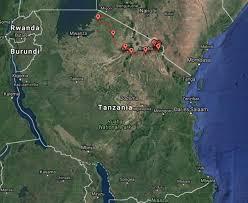 Tanzania Map Tanzania African Wildlife In The Serengeti And Ngorongoro Crater