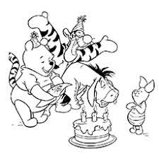 20 free printable cute winnie pooh coloring pages