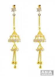 fancy jhumka earrings 2 layered fancy jhumka earrings 22k ajer57418 22k gold