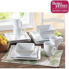 better homes and gardens square 16 porcelain dinnerware set
