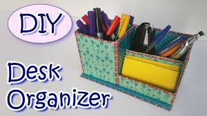 Diy Office Desk Accessories by How To Make A Desk Organizer Ana Diy Crafts Youtube