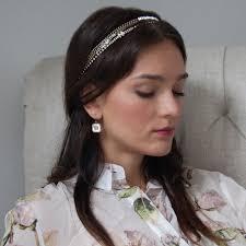 chain headband chain strands stretch headband