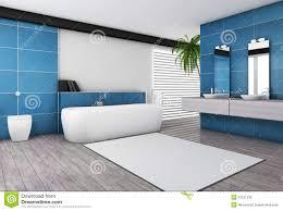 interieur salle de bain moderne intérieur bleu vert de salle de bains moderne illustration stock