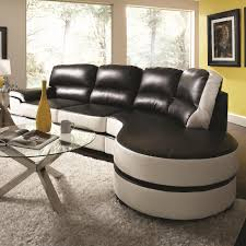 Sofa And Chaise Lounge by Black And White Sectional Sofa With Round Chaise Lounge On Fluffy