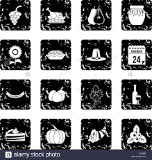 thanksgiving icons pictures thanksgiving icons set simple style stock vector art