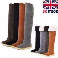 s knee boots uk womens the knee flat boots ebay