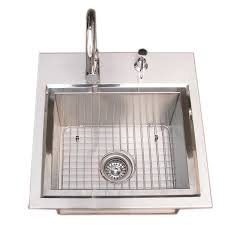 Outdoor Kitchen Sink Faucet by Sunstone Premium Drop In Sink With And Cold Faucet U0026 Cutting Board