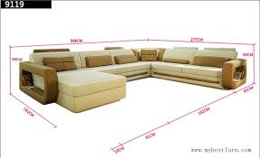 Sofa Brand Reviews by Moden New Design Top Grain Cattle Leather U Shaped Sofa 9119 9119