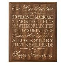 20 year anniversary gifts
