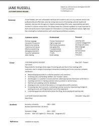 Resume Template For Customer Service Representative Customer Service Resume Template Summary Skills Career Customer