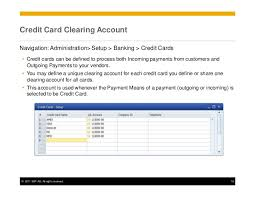 Card One Banking Business Account Understanding Gl Determinations In Sap Business One