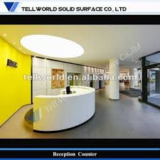 Lobby Reception Desk Curved Modern Reception Desk Degsign Lobby Reception Counter Front