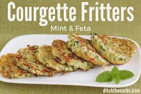 cuisin courgette courgette mint and feta fritters wheat free low carb