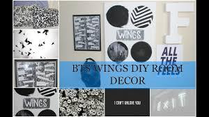 diy bts room decor wings edition youtube