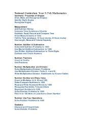 national curriculum mathematics years 3 4 5 and 6