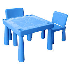 plastic table with chairs jolly kidz plastic table and chairs blue toys r us australia