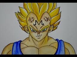 imagenes de goku para dibujar faciles con color como dibujar a vegeta majin de dragon ball youtube