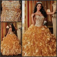 gold quince dresses aliexpress buy 2017 sparkly gold quinceanera dresses