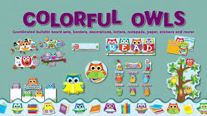 more than décor colorful owls classroom collection from carson