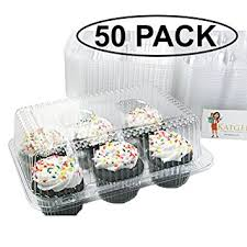 cupcake canisters for kitchen katgely 6 cavity cupcake containers with dome