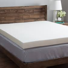 Foam Bed Topper 4 Inch Memory Foam Mattress Topper For Comfortable Sleep Home