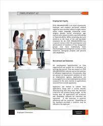 employee handbook template sample student employee training