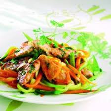 cuisiner au wok filets de lapin marinés et légumes au wok cuisine notre temps