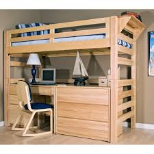 Bunk Bed Desk Underneath Astonishing Reclaimed Wood Loft Bunk Bed With Desk Underneath