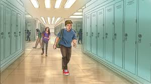 hallway boy walking down hallway band of artists storyboard