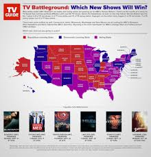 Republican States Map by Fall Tv Shows By Republican And Democratic Party Infographic