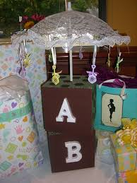 Centerpiece For Baby Shower by Home Confetti Shower Centerpiece As Easy As A B C