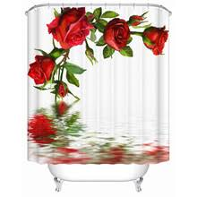 Red Rose Bathroom Accessories Popular Red Shower Curtain Buy Cheap Red Shower Curtain Lots From